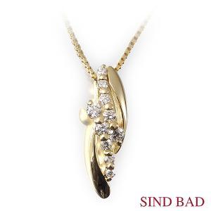 スイートテンダイヤモンド K18 イエローゴールド ネックレス ペンダント 0.11ct ダイヤモンド10石 【スイートテン ダイヤモンド】|jewelry-sindbad