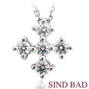 ダイヤモンド プラチナ ネックレス  ペンダント ダイヤ 0.28ct|jewelry-sindbad
