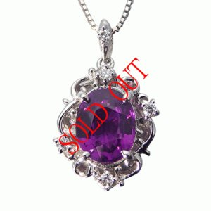 グレープガーネット ロードライトガーネット ネックレス プラチナ ペンダント ガーネット 1.5ct ダイヤ 0.05ct|jewelry-sindbad