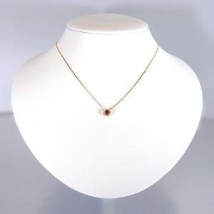 ルビー ネックレス K18 イエローゴールド ペンダント 0.3ct ダイヤモンド 0.05ct 【ルビー ペンダント】|jewelry-sindbad|05
