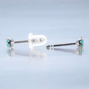 パライバトルマリン 0.06ct ペア プラチナ ピアス ブラジル産 パライバ 計 0.12ct jewelry-sindbad 04