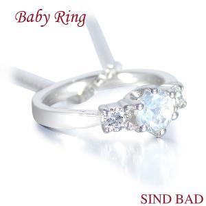 ベビーリング ネックレス プラチナ ムーンストーン 6月 文字入れ 刻印無料 出産祝い Baby ring jewelry-sindbad