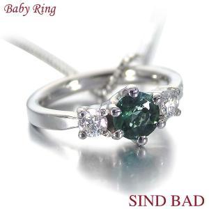 ベビーリング ネックレス プラチナ トルマリン 10月 文字入れ 刻印無料 出産祝い Baby ring jewelry-sindbad