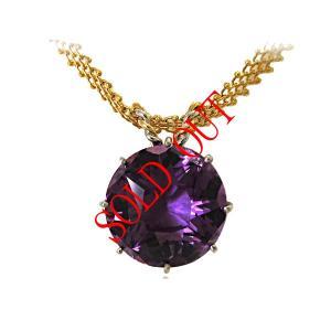 アメジスト ネックレス トップ プラチナ K18 ペンダント ヘッド 29.48ct|jewelry-sindbad