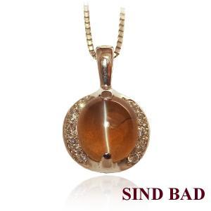キャッツアイ ネックレス トップ プラチナ ペンダント ヘッド 1.543ct|jewelry-sindbad