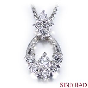 ●ダイヤモンド:約0.1ct ●素材(ペンダントヘッド):プラチナ900 ●素材(チェーン):プラチ...