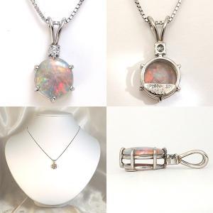 オパール ネックレス トップ プラチナ ペンダント ヘッド 0.89ct jewelry-sindbad 02