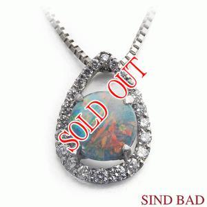ブラックオパール ネックレス トップ プラチナ ペンダント ヘッド 1.10ct |jewelry-sindbad