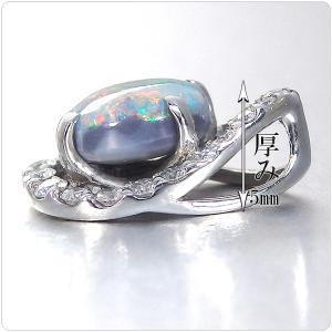 ブラックオパール ネックレス トップ プラチナ ペンダント ヘッド 1.10ct |jewelry-sindbad|03