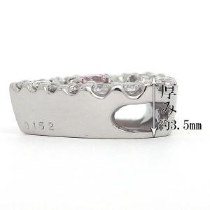 ピンクダイヤ ネックレス プラチナ ペンダント 天然ピンクダイヤ 0.053ct 【ピンクダイヤモンド】|jewelry-sindbad|03