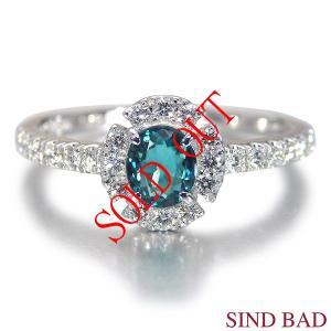 グランディディエライト 指輪 プラチナ リング グランディディエライト 0.349ct ダイヤモンド 0.252ct 中央宝石研究所鑑別書付き|jewelry-sindbad