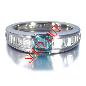 グランディディエライト 0.504ct 指輪 プラチナ リング グランディディエライト 0.504ct ダイヤモンド 0.81ct 中央宝石研究所鑑別書付き|jewelry-sindbad