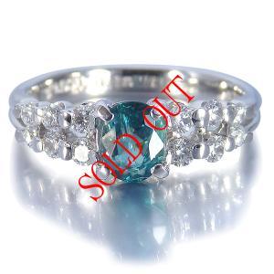 グランディディエライト 0.610ct 指輪 プラチナ リング グランディディエライト 0.610ct ダイヤモンド 0.372ct 中央宝石研究所鑑別書付き|jewelry-sindbad