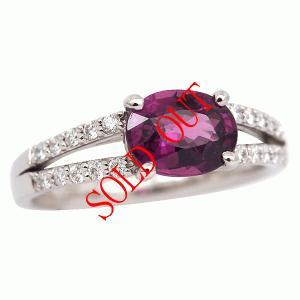 グレープガーネット ロードライトガーネット 指輪 プラチナ リング 1.13ct|jewelry-sindbad