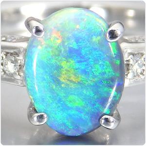 ブラックオパール 指輪 プラチナ リング 0.978ct オパール|jewelry-sindbad|02