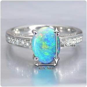 ブラックオパール 指輪 プラチナ リング 0.978ct オパール|jewelry-sindbad|03