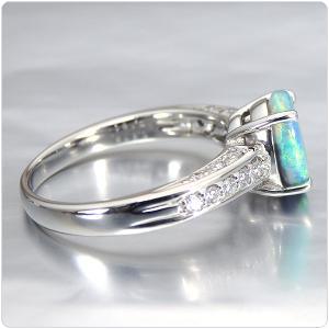 ブラックオパール 指輪 プラチナ リング 0.978ct オパール|jewelry-sindbad|05
