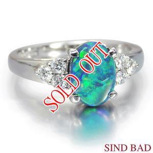 ブラックオパール 指輪 プラチナ リング オパール 1.00ct|jewelry-sindbad