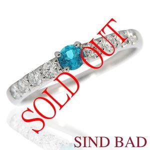 お買い上げ頂いたので、感謝の気持ち(サンキュー39)に価格を変更しました!パライバ0.114ct|jewelry-sindbad