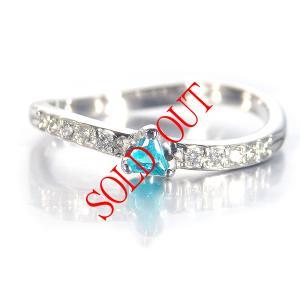 パライバトルマリン 0.064ct 指輪 プラチナ リング パライバ 0.064ct ダイヤ 0.098ct 【パライバトルマリン 指輪】|jewelry-sindbad