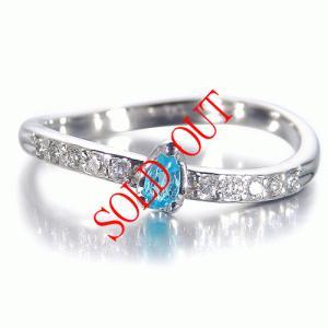 パライバトルマリン 0.065ct 指輪 プラチナ リング パライバ 0.065ct ダイヤ 0.098ct 【パライバトルマリン 指輪】|jewelry-sindbad