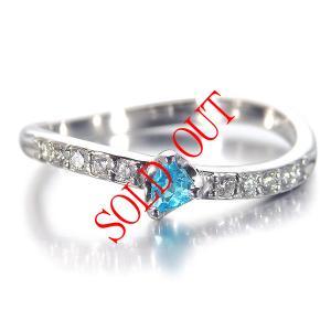 パライバトルマリン 0.066ct 指輪 プラチナ リング パライバ 0.066ct ダイヤ 0.098ct 【パライバトルマリン 指輪】|jewelry-sindbad