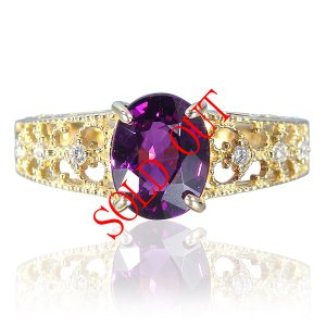 お買い上げ頂いたので、感謝の気持ち(サンキュー39)に価格を変更しました! グレープガーネット 1.743ct|jewelry-sindbad