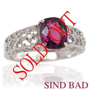 お買い上げ頂いたので、感謝の気持ち(サンキュー39)に価格を変更しました! グレープガーネット 1.64ct|jewelry-sindbad