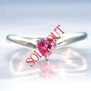 ピンクサファイア ハートシェイプ 指輪 サファイア プラチナ リング サファイヤ 0.283ct 【ピンクサファイヤ】|jewelry-sindbad
