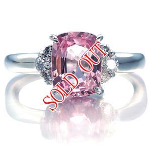 ピンクスピネル 指輪 プラチナ リング スピネル 1.61ct ダイヤ 0.121ct|jewelry-sindbad