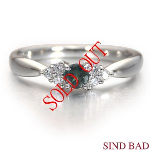 アレキサンドライト 指輪 プラチナ リング 0.168ct |jewelry-sindbad