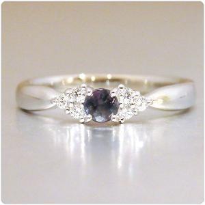 アレキサンドライト 指輪 プラチナ リング 0.168ct |jewelry-sindbad|02