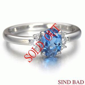 サンタマリアアクアマリン 指輪 プラチナ リング 0.635ct|jewelry-sindbad
