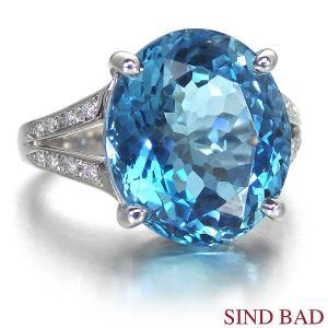 アクアマリン 8.074ct  指輪 プラチナ リング アクアマリン 8.074ct ダイヤ 0.083ct 中央宝石研究所鑑別書付き|jewelry-sindbad