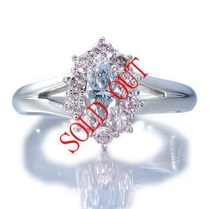 ブルーダイヤ 指輪 プラチナ リング 0.222ct センターダイヤ ブルーダイヤモンド ファンシー ブルー GIA JAPAN AGTジェムラボラトリー鑑定書付き|jewelry-sindbad