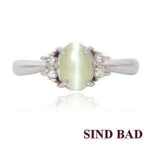 キャッツアイ 指輪 プラチナ リング 0.601ct|jewelry-sindbad