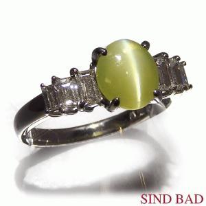 キャッツアイ 指輪 プラチナ リング 1.622ct|jewelry-sindbad