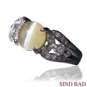 キャッツアイ 指輪 プラチナ リング 2.293ct 中央宝石研究所鑑別書付き|jewelry-sindbad
