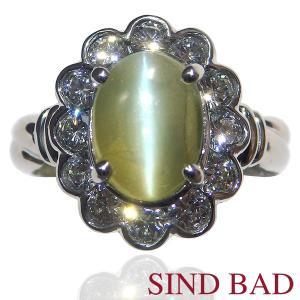 キャッツアイ 指輪 プラチナ リング 2.85ct 中央宝石研究所鑑別書付き|jewelry-sindbad