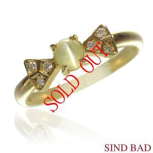 キャッツアイ 指輪 K18 リング 0.408ct|jewelry-sindbad