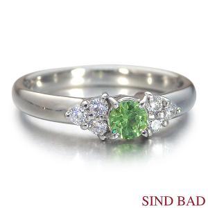 デマントイドガーネット 指輪 プラチナ リング 0.239ct|jewelry-sindbad