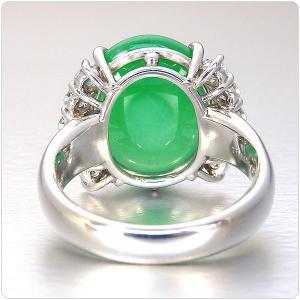 翡翠 指輪 プラチナ リング 11.493ct 中央宝石研究所鑑別書付き|jewelry-sindbad|04