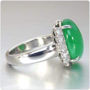 翡翠 指輪 プラチナ リング 11.493ct 中央宝石研究所鑑別書付き|jewelry-sindbad|05