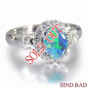 ブラックオパール 0.512ct 指輪 プラチナ リング オパール 0.512ct ダイヤ 0.279ct |jewelry-sindbad