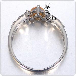 オレンジダイヤ 指輪 プラチナ リング オレンジダイヤモンド 0.565ct ファンシー インテンス イエロー オレンジ ペアシェイプ 全国宝石学協会鑑定書付き|jewelry-sindbad|04