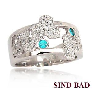 パライバトルマリン 指輪 プラチナ リング パライバ 0.062ct|jewelry-sindbad