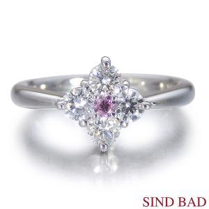 ピンクダイヤ 指輪 プラチナ リング 0.071ct センターダイヤ ピンクダイヤモンド ファンシー インテンス パープリッシュ ピンク AGTグレーディングレポート付き|jewelry-sindbad