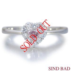 ピンクダイヤ 指輪 プラチナ リング 0.091ct センターダイヤ ピンクダイヤモンド ファンシー ピンク AGTジェムラボラトリー鑑定書付き|jewelry-sindbad