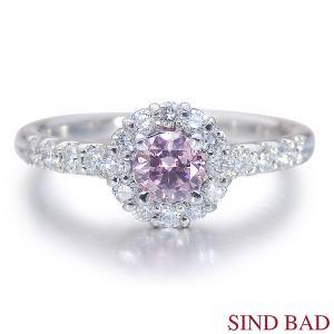 ピンクダイヤ 指輪 プラチナ リング 0.250ct 指輪 プラチナ ファンシー インテンス パープリッシュ ピンク ピンクダイヤモンド AGTジェムラボラトリー鑑定書付き|jewelry-sindbad