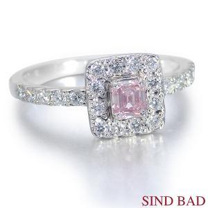 ピンクダイヤ 指輪 プラチナ リング 0.230ct センターダイヤ ピンクダイヤモンド ファンシー ピンク AGTジェムラボラトリー鑑定書付き|jewelry-sindbad